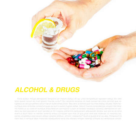 Alcohol and medicine photo
