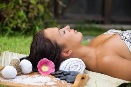 Pretty young woman relax photo