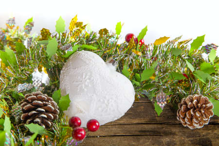 Christmas composition with heart Stock Photo - 22308717
