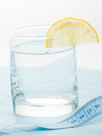 Pure water for healthy life with measure tape