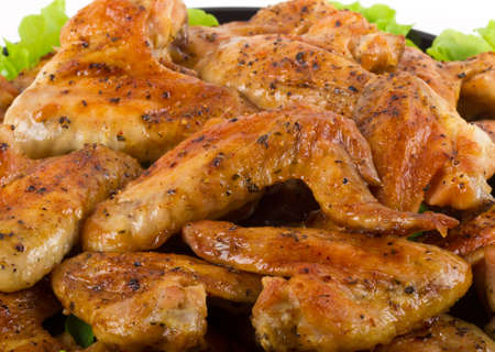 Roasted chiken wings Stock Photo