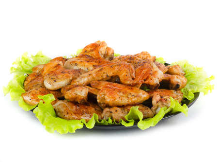 bbq chicken: Roasted chicken wings Stock Photo