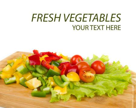 Fresh pepper cuts Stock Photo