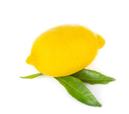Lemon fruit on white background photo