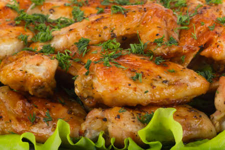 Roasted chicken wings photo