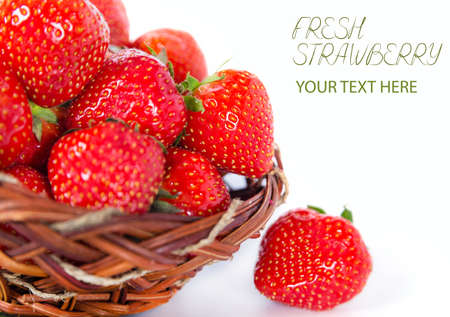 Beautiful fresh Strawberry tasty aroma photo