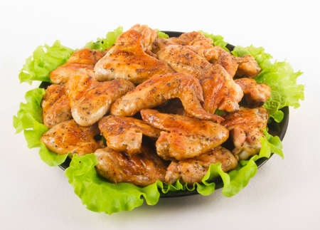 bbq chicken: Roasted chiken wings Stock Photo