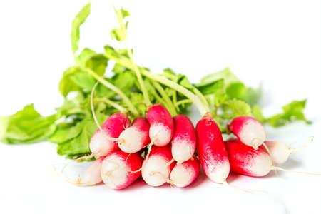 Fresh radish vegetable on the white background photo
