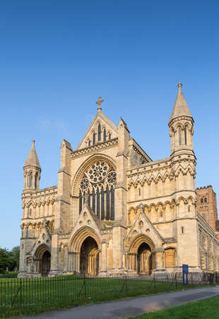 Cathedral and Abbey Church of Saint Alban in St.Albans england united kingdom uk photo