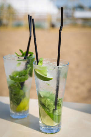 mohito: Mojito mohito freshness cocktail on a beach fresh