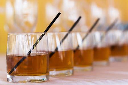 Nice Rhythm raw of whisky cola glasses photo