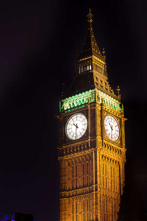 Big Ben at night London United Kingdom uk photo