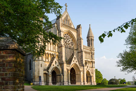 St.Albans, 영국에서 세인트 알반의 성당과 수도원 교회 스톡 콘텐츠