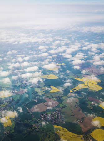 View from airplane England, Uk photo