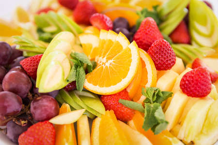 Fresh fruit party plate photo