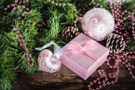 Nice Christmas composition for future cards and selebrations photo