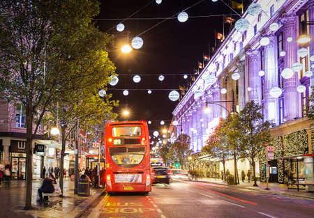 13 November 2014 Oxford Street, London, decorated for Christmas and New 2015 Year