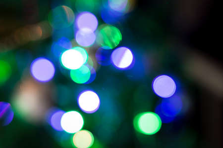 Christmas tree lights with the bokeh effect photo