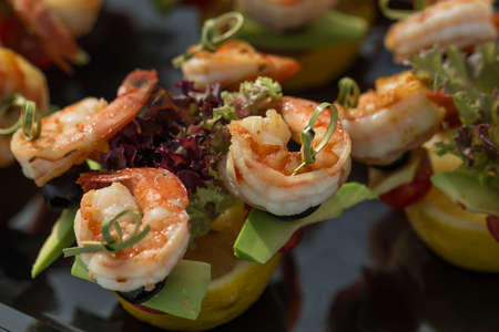 starter: Perfect party shrimp canape starter on holiday