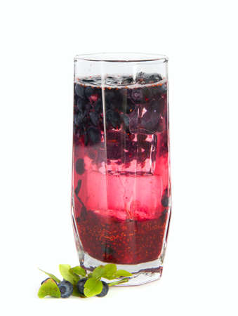 Refreshments: Black current jam refreshment drink Stock Photo