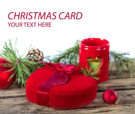 christmas gift: Christmas red heart gift