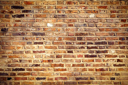 brown wallpaper: Industrial Brick wall best background texture close Stock Photo