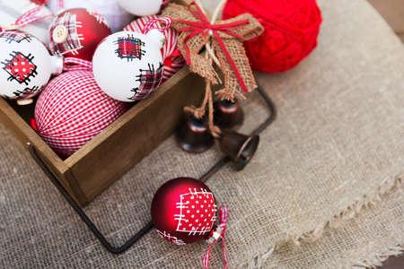 retro christmas: Christmas retro composition
