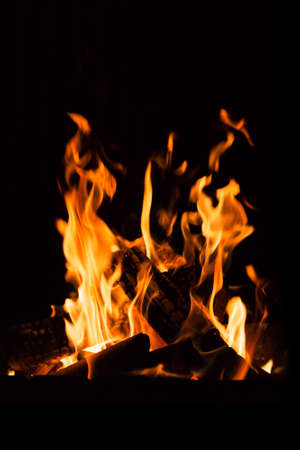 fireplace: fire in a fireplace Stock Photo