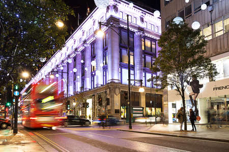 November 13, 2014 Oxford Street, London, decorated for Christmas and New Year 2015 Editorial