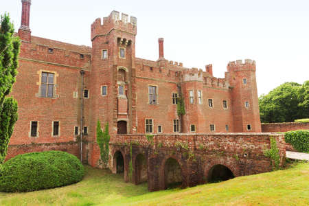 15th century: Brick Herstmonceux castle in England East Sussex 15th century UK