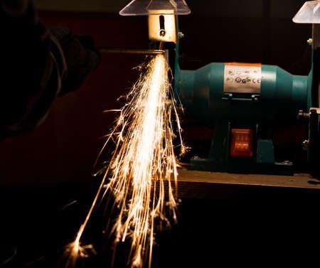 sharpening process: sharpening process cutting by abrasive disk machine