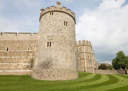windsor castle tourist england united kingdom uk Stock Photo