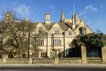 oxford: Historic University Building in Oxford City, England Editorial