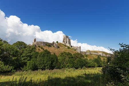 dorset: Ancient Corfe Castle, Dorset, England, United kingdom