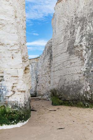 manche: Popular white cliffs Botany Bay La Manche English channel coast, Kent, England, United Kingdom