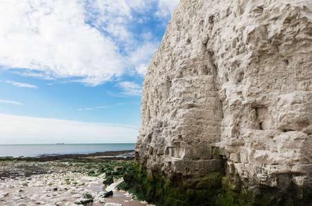 english channel: Popular white cliffs Botany Bay La Manche English channel coast, Kent, England, United Kingdom