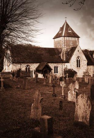 john the baptist: Puttenham St John the Baptist church in England UK