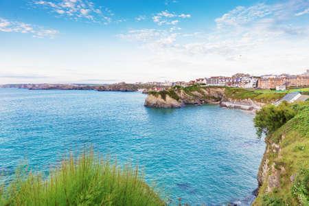 Popular Newquay Atlantic ocean coast, Cornwall, England, United Kingdom Stock Photo