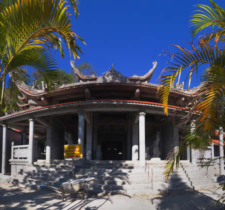 cu: Temple of Nirvana Buddha on Ta Cu mountain Linh Son Truong Tho temple at Phan Thiet, Binh Thuan province, Vietnam