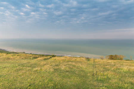Popular Beachy Head Atlantic ocean coast, West Sussex, England, United Kingdom Stock Photo