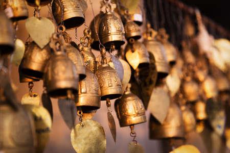 Famous Big Buddha wish bells at Phuket, Thailand
