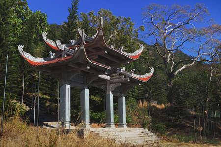 cu: Vietnam, Phan Thiet - 20 January 2016: Temple of Nirvana Buddha on Ta Cu mountain Linh Son Truong Tho temple