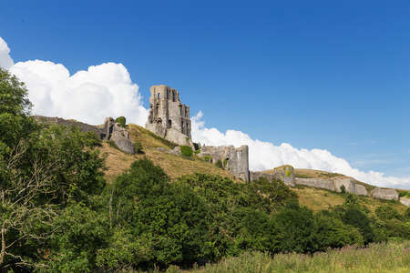 United Kingdom, England, Dorset - 22 July 2015: Ancient Corfe Castle