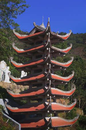 Temple of  Nirvana Buddha on Ta Cu mountain Linh Son Truong Tho temple at Phan Thiet, Binh Thuan province, Vietnam Stock Photo