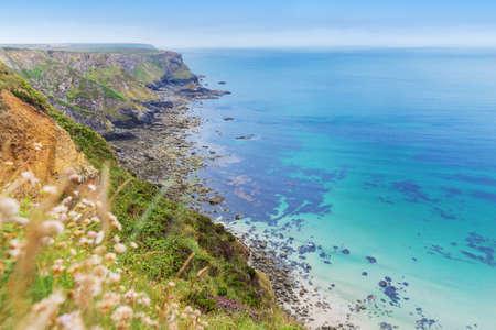 Popular Heritage Coast Atlantic ocean, Cornwall, England, United Kingdom Stock Photo