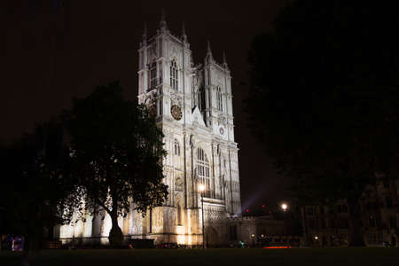 Popular tourist Westminster abbey London England United Kingdom 스톡 콘텐츠