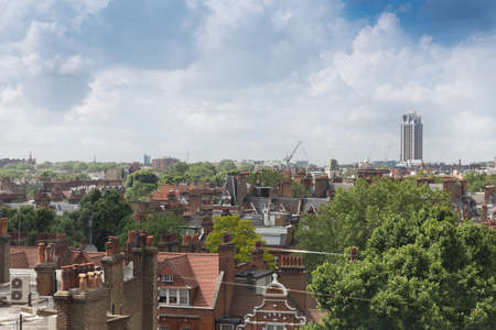 Kings road and cityscape view from top floor London, England,United Kingdom Stock Photo