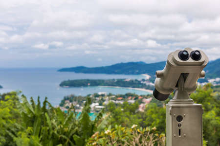 Kata Karon tropical beach viewpoint at Phuket island, Thailand 写真素材