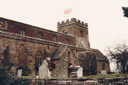 St. Etheldreda's Church Horley, Oxfordshire, dark Helloween style in England UK