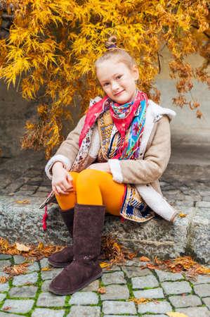 hairpiece: Fashion portrait of a cute little girl